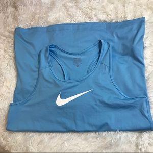Women's Blue Nike Pro Tank Top, XL